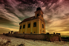 Kostelec (Stevacek) Tags: sky snow church clouds nikon wideangle czechrepublic hdr kostel jicin d300 sigma1020mm 10mm eskrepublika jin kostelec