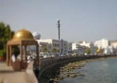 The Corniche in Muscat, Oman (Eric Lafforgue) Tags: tourism canon muslim islam mosque arabic explore corniche arabia arabian peninsula oman ramadan muscat omn tiltshift  omani mascate arabie   lafforgue minatret arabianpeninsula  ericlafforgue 8251 om  omo umman omaan   omanais   omna omanas umn