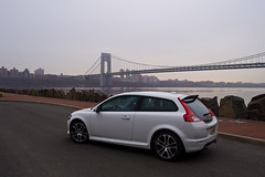 my Volvo C30 R-Design (Vivid Emotion Photos) Tags: bridge white ice canon volvo george washington 20mm f28 gwb 30d rdesign c30