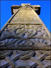 CltcCrs (angus clyne) Tags: scotland cross perthshire stonecarving gravestone marble celticcross flikcr caputh lyingonthefrostygroundlookingup