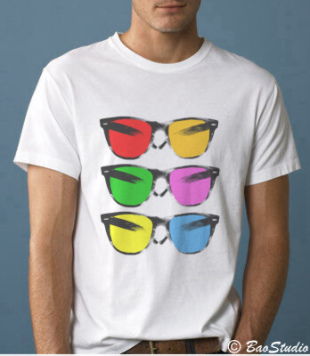Vintage Sunglasses - Pop Art Graphic T-shirts by Baostudio