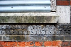 Detail of the tiling on the old mortuary. (maggie jones.) Tags: brick london tile victorian derelict jacktheripper 1876 mortuary