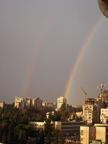 Double rainbow in Jerusalem