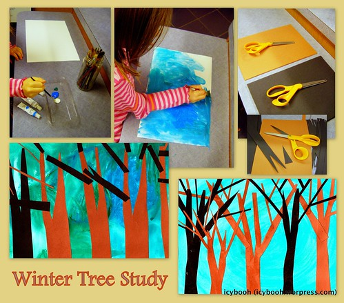 Winter Tree Study Collage