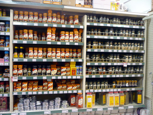 A Spice Rack At A Loblaws Supermarket.