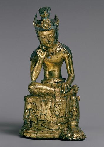 010-Bodhisattva Pensativo-período de Tres Reinos (57 aC-668 dC)-Corea- Copyrigth © 2000-2009 The Metropolitan Museum of Art