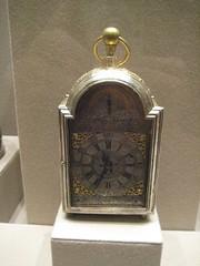 Traveling Clock with Alarm and Calender (unforth) Tags: newyorkcity newyork london art english metal museum silver european manhattan artmuseum clocks 18thcentury uppereastside metropolitanmuseumofart gilding decorativeart josephpaulet