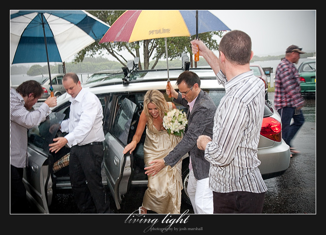 The rainiest day of the year, lucky! Wedding photography from Tea Gardens.