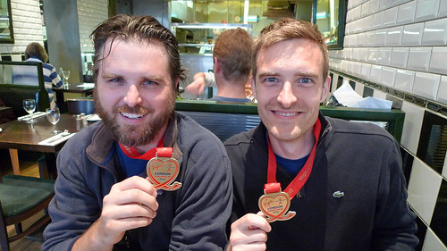 Matt and Mike Post Marathon
