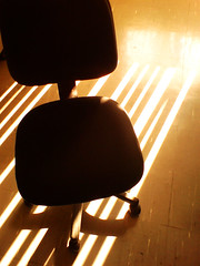Apr22: Hot Seat (sakanami) Tags: light shadow blinds computerchair apr22 dandy365