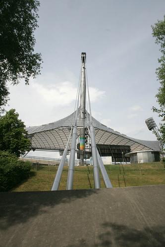Trägerkonstruktion des Olympiastadiums