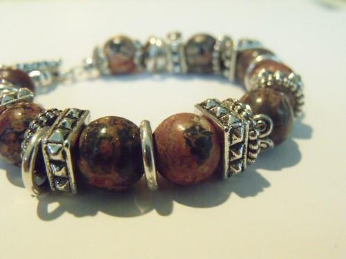 http://www.etsy.com/listing/74187590/chunky-leopard-jasper-bracelet by mSs Distinctive Designs Studio