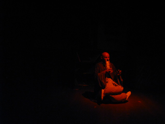 The Old Sage, Master Lao Tzu (Troy Blendell) senses the smell of vengeance in the air.