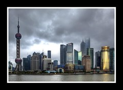 Pudong (shashin62) Tags: china skyline architecture river shanghai pudong pearlorienttower greatphotographers challengegamewinner mygearandme