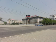Workers Party Of Korea HQ in Kim Il Sung Square - Pyongyang (mikestuartwood) Tags: asian asia north korea communist communism korean socialist socialism northkorea dprk dpr northkorean dprkorea dprkorean