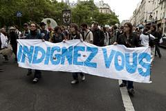 Parisian Indignant's Demonstration (08) - 19Jun11, Paris (France) (]) Tags: paris word crowd banner peaceful social demonstration foule indignant manifestation pacifique banderole indigns indign indignatos