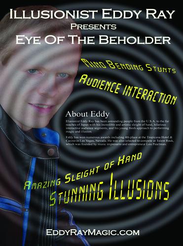 Promo Flyer Magician Eddy Ray by eddyraymagic1