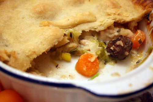 Chicken and leek pie 3