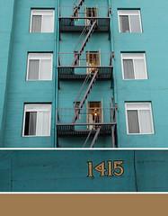 1415 (daily pleasure) Tags: california la turquoise fireescape 1415 triptich