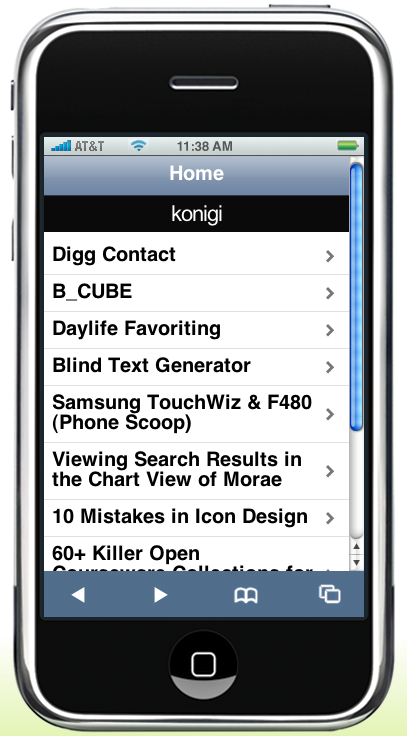 konigi Mobile - iPhone Preview on MoFuse