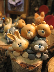 Friends-Let's stick together! (marytempesta) Tags: friends cats cute bunnies animals teddy handmade crafts bears polymerclay