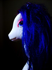 hair (sparkleice) Tags: blue white black eye hair toy pony sparkleice