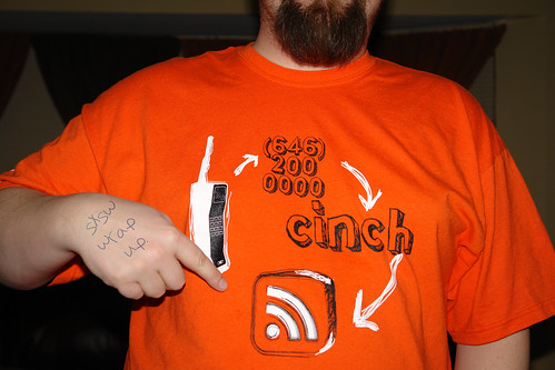 sxsw cinch shirt schwag