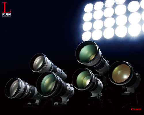 bad wallpaper. big ad L lenses wallpaper