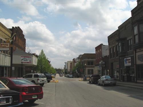 Main Street America scene