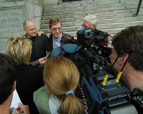 Bobby Medford address the media