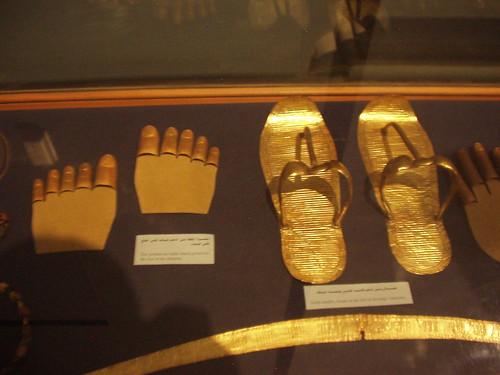 Tutankhamun's flip-flops