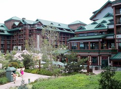 Courtyard of the Wilderness Lodge