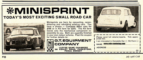 Mini Sprint Advert (by retromotoring)