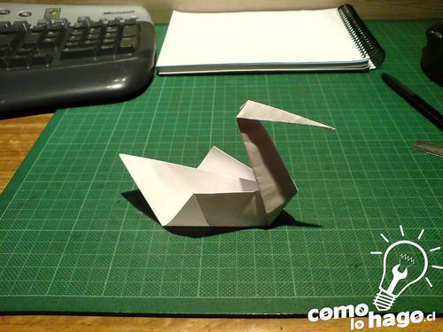 Como hacer un Cisne de Papel