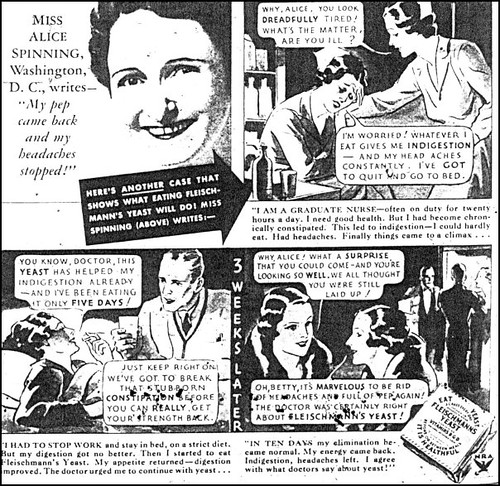 LHJ 1934 Yeast comic ad detail