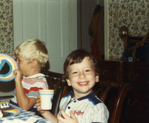 Me, 5, at birthday party.