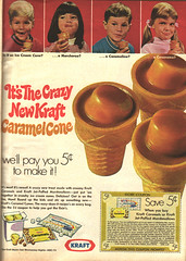 Vintage 1969 Kraft Ad (obsequies) Tags: food 1969 vintage magazine crazy 60s cone ad caramel marshmallow icecream snack carmel sweets treat 1960s puffy kraft coupon midcentury goodhousekeeping carmelcone