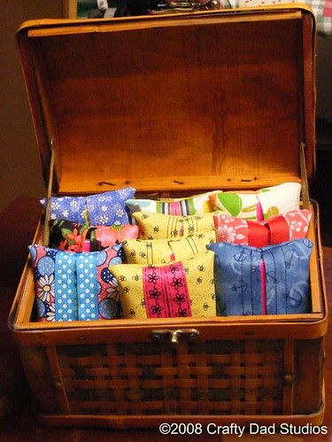 Basketful of tissue holders