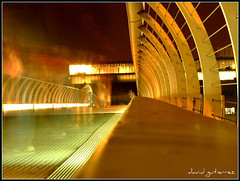 Ghost of London Millennium Bridge at Night (david gutierrez [ www.davidgutierrez.co.uk ]) Tags: city uk longexposure travel bridge light england people urban building london architecture modern night buildings dark spectacular geotagged photography design photo interestingness arquitectura cityscape shadows darkness image dusk centre ghost perspective cities cityscapes bridges