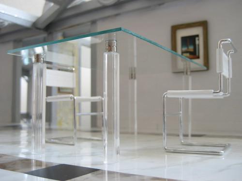 Miniarcs: Miniature Modern Glass Top Table