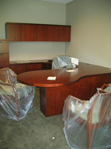 Shrink wrapped executive office