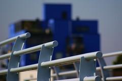 Triple Blue (ShinyM) Tags: bridge blue blauw zoetermeer brug