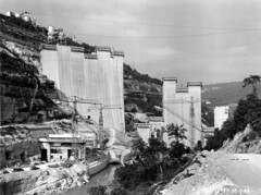 Construction du barrage de Vouglans