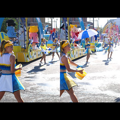 water parade (shotam) Tags: summer girl nikon performance parade  2008 usj  50mmf14d universalstudiojapan d80