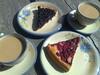 Coffee and pies (kitanotenshi) Tags: aulanko mustikkapiirakka vadelmapiirakka