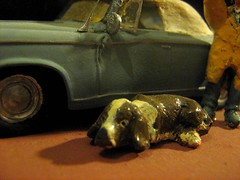 Scratch-Built 'Columbo' Peugeot 403 Car: Plastic Model Car By HELLER: Diorama - 3 of 10 (Kelvin64) Tags: show dog car tv cop series peugeot diorama columbo columbos lieutenent