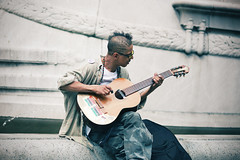 the musician (willy gil) Tags: street nyc people music guitar 5d candids 135mmf2l