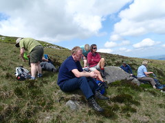 Rest on Thomas plateau before donard slopes