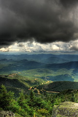 Where land meets clouds - Whiteface Mountain (HDR) (jessi.bryan) Tags: mountain newyork nature summit wilmington hdr adirondack crepuscular whitefacemountain blueribbonwinner colourartaward rubyphotographer