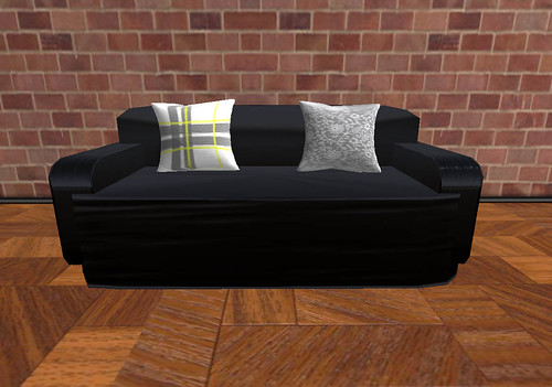 Low Prim Black Sofa